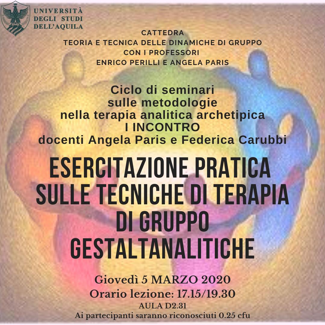 Al via i seminari sulle Metodologie nella Psicologia analitico-archetipica-gestaltica