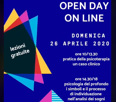 Open day on line con lezioni di psicoterapia