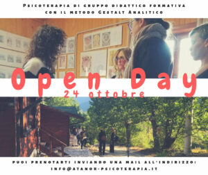 Read more about the article OPEN DAY 24-25 Ottobre 2020