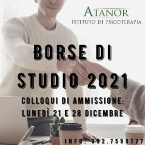 Read more about the article BORSE DI STUDIO: ULTIMI COLLOQUI DI AMMISSIONE PER L'ANNUALITA' IN PARTENZA A GENNAIO 2021